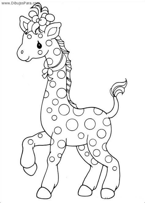 imagenes de jirafas para pintar dibujo de jirafa infantil para colorear dibujos de