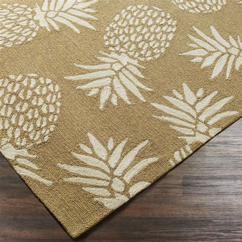 Pineapple Outdoor Rug Spunky Pineapple Indoor Outdoor Rug Shades Of Light