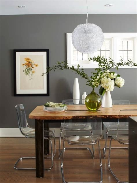 benjamin moore chelsea gray in a dining room with white cove ceilings best dark gray paint color 4 gray paint colors interior designers love interiors by