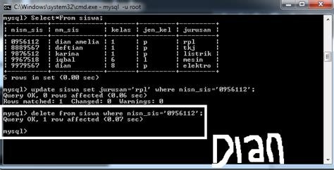 cara membuat database mysql melalui cmd cara membuat database mysql di cmd dian amalia