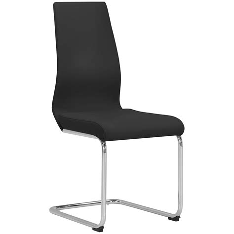 Black Upholstered Chair by City Furniture Lennox Black Upholstered Side Chair