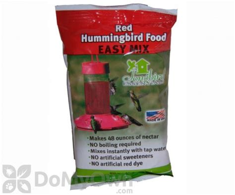 songbird essentials easy mix red hummingbird food 8 oz