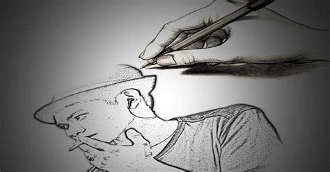 belajar desain membuat sketsa pensil dengan photoshop