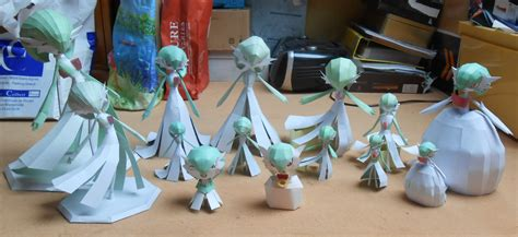 Gardevoir Papercraft - gardevoir papercrafts family picture by gardevoir7 on