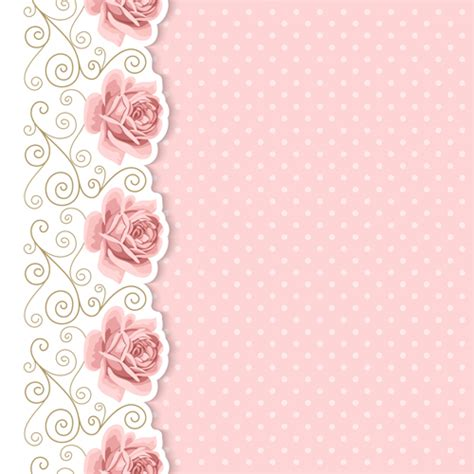 Pink Card pink flower with vintage cards vectors 02 vector card