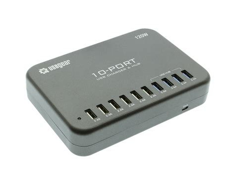 10 usb charger usb 10 port fast charger 120w 2 4a with usb 4 port data