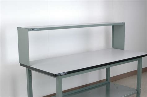 Shelf Height by Stackbin Workbenches 18 Quot High Raised Shelf Fixed