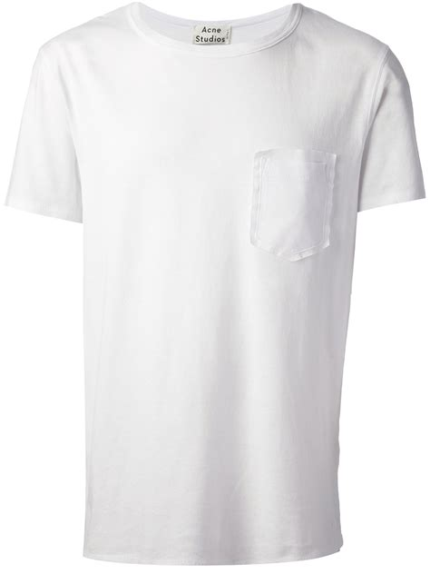 B Pocket T Shirt lyst acne studios patch pocket t shirt in white for