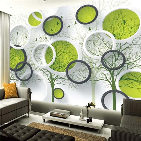 abstract wallpaper for living room 3d abstract circle photo wallpaper mural for living room