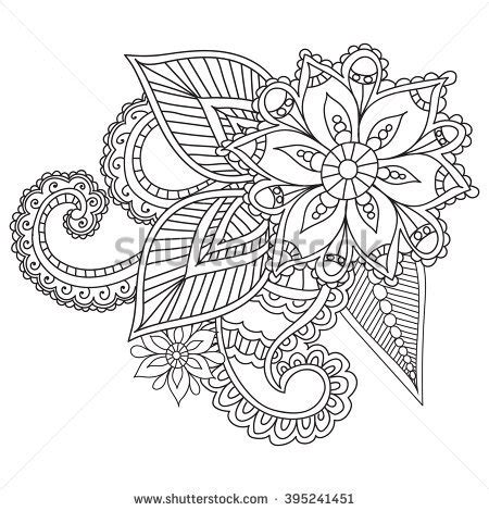 free coloring pages of henna vine royalty free henna tattoo flower template mehndi