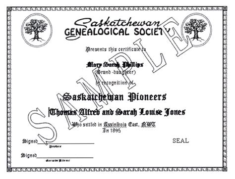 Saskatchewan Marriage Records Saskatchewan Pioneer S Certificate Saskatchewan Genealogical Society