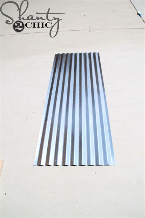 sheet metal awning diy corrugated metal awning shanty 2 chic