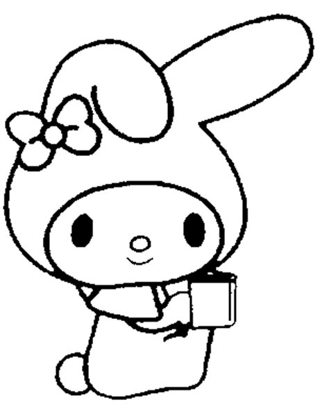 my melody coloring pages book sketch coloring page