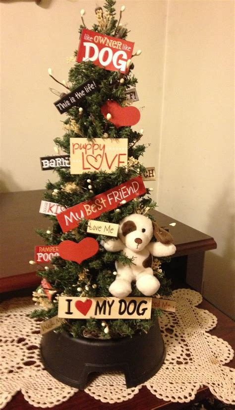 18 quot lighted quot i love my dog quot theme tree christmas tree