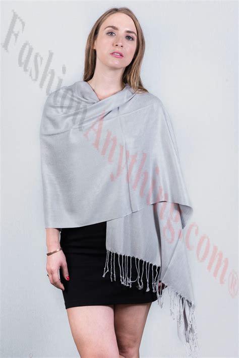 Silky Pashmina 1 silky soft solid pashmina scarf light grey