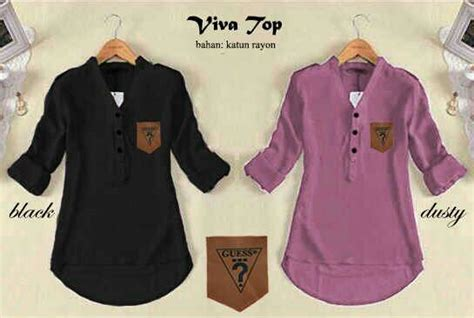 Kemeja Wanita 8504 Warna Khaky Dan Purple gambar jual baju kemeja kerja hem polos plain navy dongker shirt di rebanas rebanas