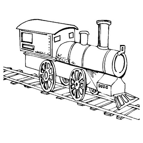 free coloring pages of steam train