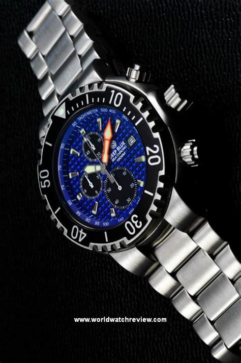 blue dive watches blue sea chrono 1k 1000m diver world review