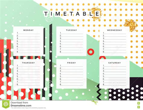 planner design templates planner calendar schedule the week abstract design