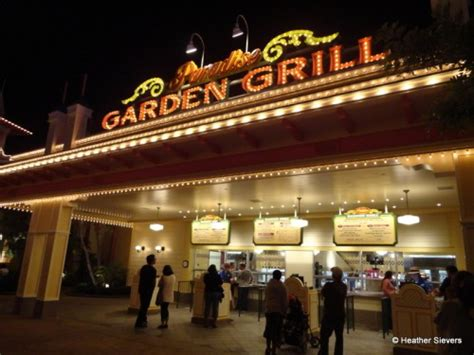 The Garden Grille by Dining In Disneyland Paradise Garden Grill The Disney