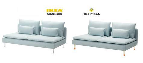 ikea soderhamn hack soderhamn sofa ikea hack to exchange the legs our