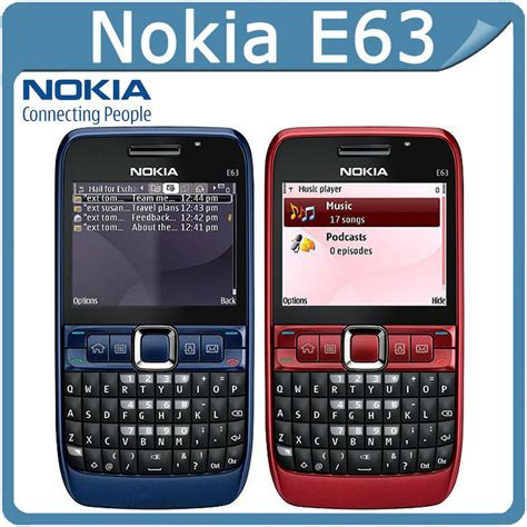 Hp Nokia Qwerty E63 brand new genuine nokia e63 qwerty keypad wifi 3g unlocked mobile phone blue ebay