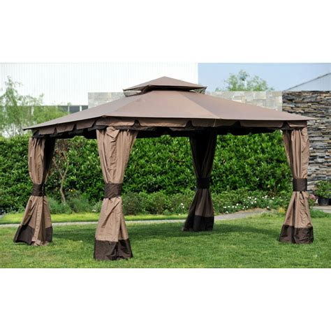 Monterey Outdoor Patio Furniture - wilson amp fisher 10 x 12 monterey gazebo replacement canopy and netting garden winds