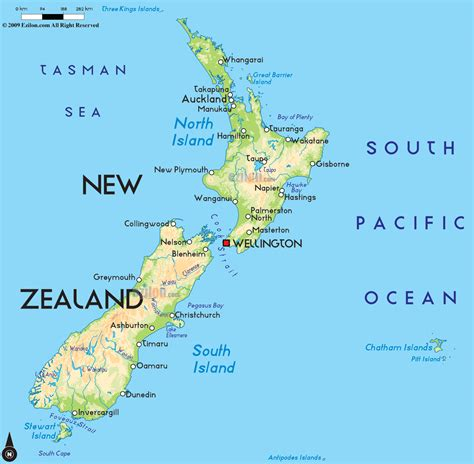 map new zealand road map of new zealand and new zealand road maps