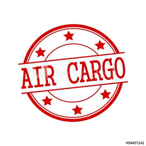 air cargo st text on circle on a white background and buy this stock