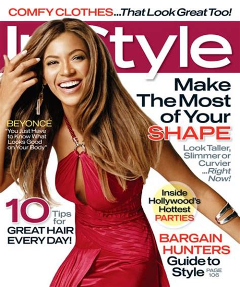 Beyonce On The Cover Of Instyle Magazine by Instyle Magazine Covers 2007 Instyle