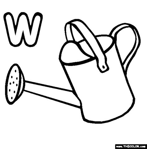 coloring page watering can online coloring pages starting with the letter l page 4
