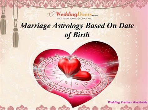 Marriage astrology based on date of birth