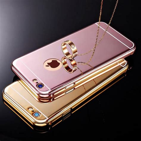 luxury aluminum ultra thin mirror metal cover for iphone se 5s 6s 7 8 plus ebay