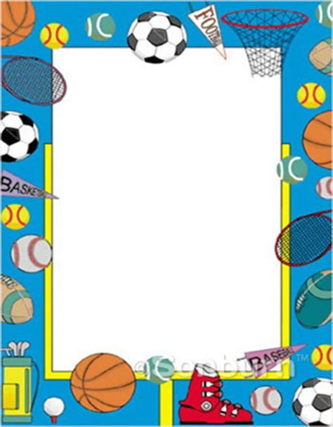 printable poster board borders page borders sports theme search results calendar 2015