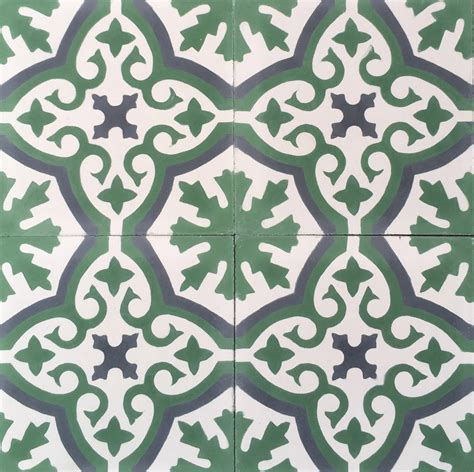 green patterned tiles encaustic tiles patterned tiles cement tiles bespoke