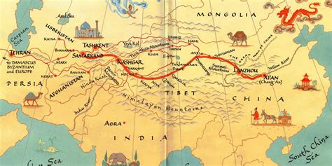 silk road map china s new silk road promises prosperity across eurasia huffpost