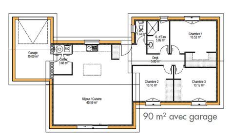 plan maison 騁age 3 chambres safran constructeur de maison individuelle 224 bordeaux