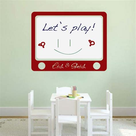 erase wall stickers etch and sketch erase wall decal trendy wall designs