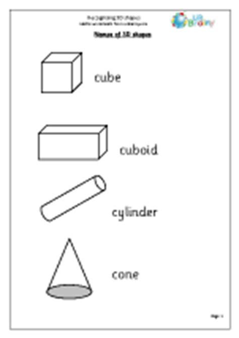 shapes worksheet reception 3d shape worksheets from urbrainy