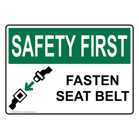 safety seat belt vehicle safety seat belt signs