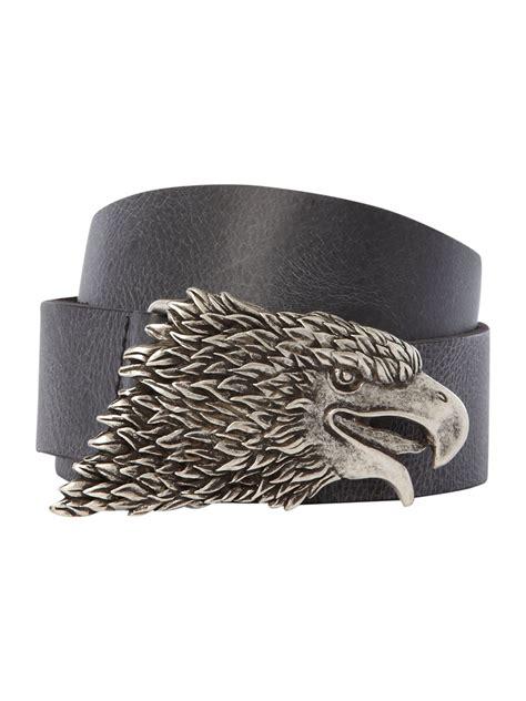 pattern belt of the black eagle label lab eagle buckle belt in black for men lyst