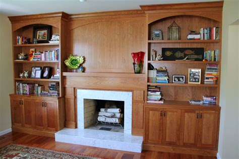 Bookcase Fireplace Surround by Crafted Built In Bookcases Fireplace Surround By
