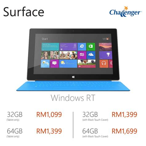 Microsoft Surface Tablet Malaysia surface rt gets rm450 price cut prices now starting from rm1099