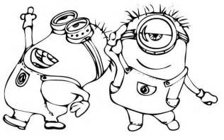 despicable me minions coloring page with a minion from