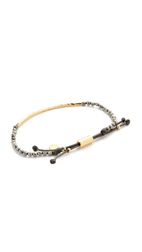 gorjana power bracelet for strength in metallic lyst