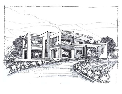 house sketch sketches of modern houses search things to draw