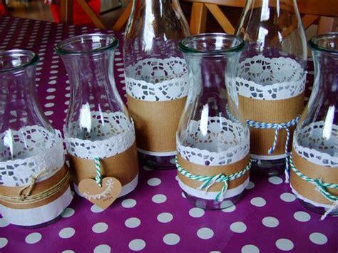 Tischdeko Hochzeit Chagner by Vasen Aus Milch Und Weckflaschen Blechdosen Gl 228 Ser