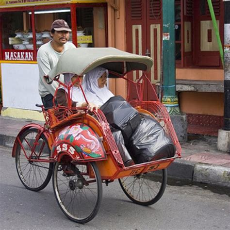 The Becak Way becak one of cheapest way to get around town my