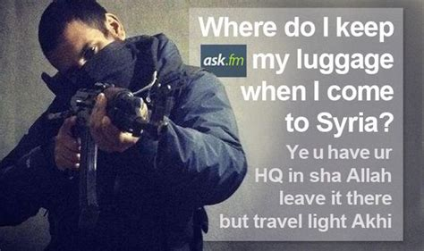 ask fm isis terror group isis gives travel advice to extremist britons