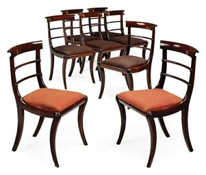 Regency Style Dining Chairs A Set Of Eight Mahogany Dining Chairs Of Regency Style